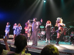 James Brown performing in June 2005