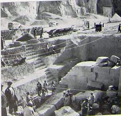 Photograph of the excavations performed by the Oriental Institute of the University of Chicago