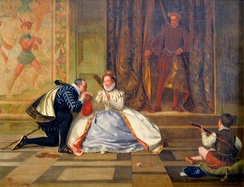 Queen Elizabeth and Leicester by William Frederick Yeames, 1865