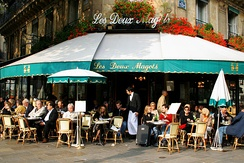 Les Deux Magots café on Boulevard Saint-Germain