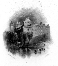 Linlithgow, 1836 proof engraving by William Miller after J.M.W. Turner