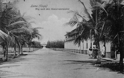 The way to the governor's palace in Togo, 1904