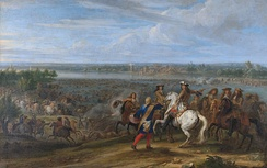 Louis XIV crosses the Rhine at Lobith on 12 June 1672; Rijksmuseum Amsterdam