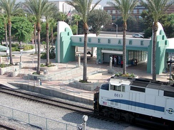 Downtown Burbank train station