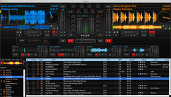 A screenshot of Mixxx DJ software running on Mac OS X