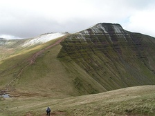 Pen y Fan in the Brecon Beacons National Park, South-East Wales in winter.