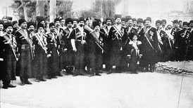 Persian Cossack Brigade in Tabriz in 1909