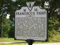 State historic marker dedicated to the fight