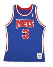 Dražen Petrović's Nets jersey; his number 3 was retired by the team following his death.