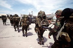 The U.S.-led invasion in 1994 designed to remove the regime installed by the 1991 Haitian coup d'état