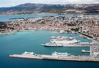 The Port of Split (passenger section), a regional passenger hub. The North Port (not shown) is for cargo ships.