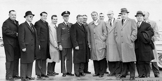 Representative Waggonner and other members of the House Committee on Science and Astronautics visit the Marshall Space Flight Center in Huntsville, Alabama, on March 9, 1962, to gather first-hand information of the nation's space exploration program.