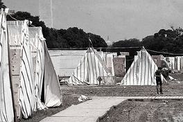 A 3,000-person shantytown called Resurrection City was established in 1968 on the National Mall as part of the Poor People's Campaign.