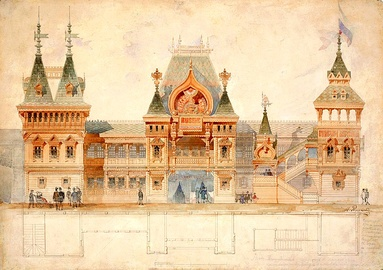Ivan Ropet's design for Russia's pavilion at the exhibition