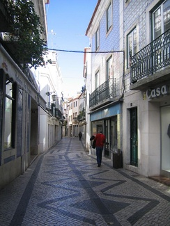 Stone paving in Santarém, Portugal