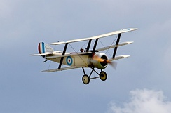 Sopwith Triplane in flight (2014)