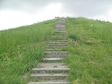 Steps (since removed) to top of Mound A