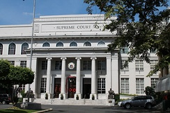 The facade of the Supreme Court Building at Padre Faura Street, Ermita, Manila.