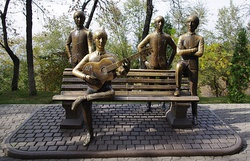 The Beatles Monument in Almaty, Kazakhstan