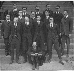 University of Tennessee Junior Dental class, 1917. Prothro is listed, but not identified, as being in the photo.