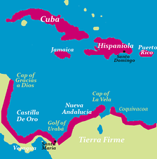 Tierra Firme, Governorate of Castilla de Oro and New Andalucia (Mainland of Colombia)