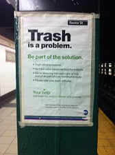 Program for removing garbage bins from stations