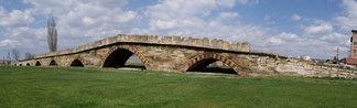 The nine-arched Vojinović Bridge from the medieval period.