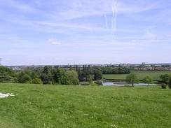 View from Cusworth Hall towards Doncaster
