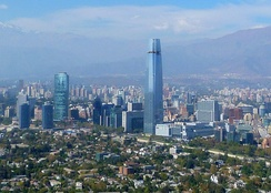 Financial center of Santiago, Chile