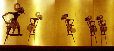 Wayang kulit, a puppet-shadow play of Java, Bali, and Lombok from Indonesia