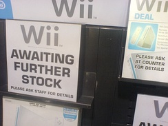 The Wii sold out at an HMV on Oxford Street