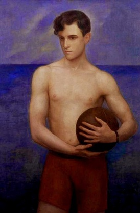 Picture of Ramon Novarro 1929 (Óleo sobre lienzo) by Ángel Zárraga.