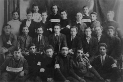 Histadrut committee 1920. Ben Gurion 2nd row, 4th from right