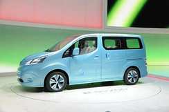 Nissan e-NV200 concept presented at the 2012 Geneva Motor Show.