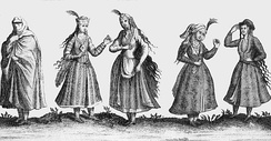Lady's clothing in the 1600s