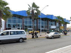 The Arrivals building at Queen Beatrix International Airport