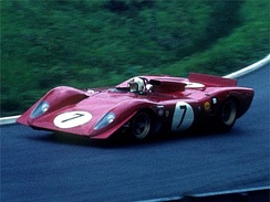 Ferrari 312 P driven by Chris Amon at the 1969 1000 km Nurburgring