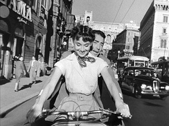 Roman Holiday with Audrey Hepburn and Gregory Peck, 1953