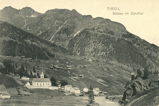 Postcard from Sölden with Berghof (about 1920)
