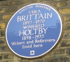 Plaque at 52 Doughty Street, London