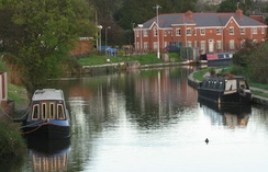 Canal boats at Appley Bridge