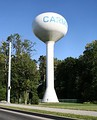 One of Carmel's water towers, located near the Westfield border on 146th street