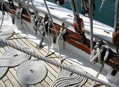 Cordage aboard the French training ship Mutin