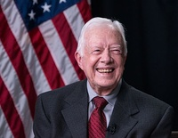 Carter during a Google Hangout session held during the LBJ Presidential Library Civil Rights Summit in 2014