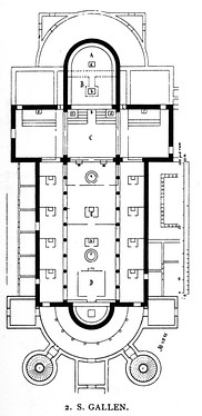 The plan of the Abbey of St Gall, Switzerland