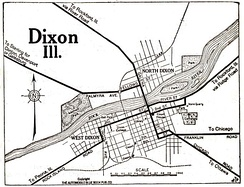 Map of Dixon in 1919