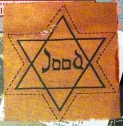 Yellow Star of David that Dutch Jews were forced to wear