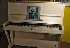 "The 1910 piano on which Elton John composed his first five albums, including his first hit single, ""Your Song"""