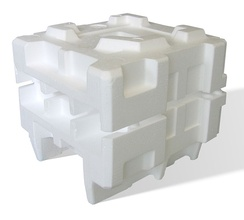 Expanded polystyrene polymer packaging