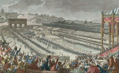 The Fête de la Fédération on 14 July 1790 celebrated the establishment of the constitutional monarchy.